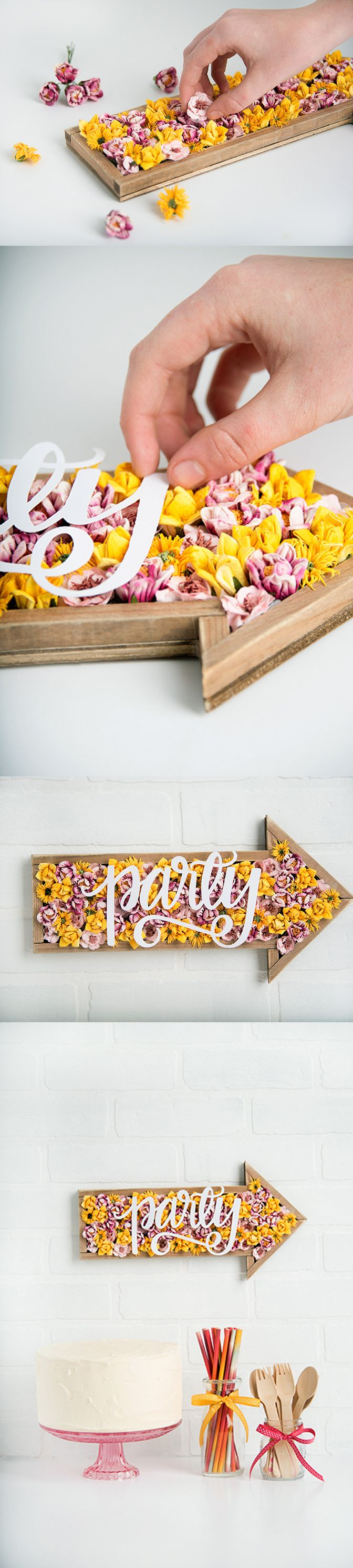 Free SVG file for your Cricut Explore. Cut this adorable hand lettered party sign for your next soiree!