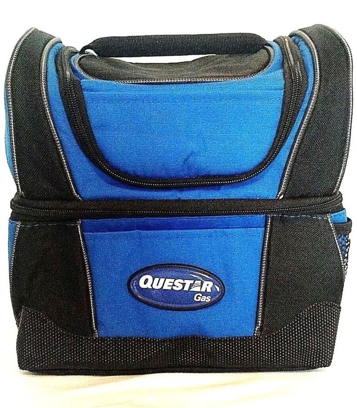 Questar Gas insulated lunch bag, double compartment lunch box refrigerated #Leeds