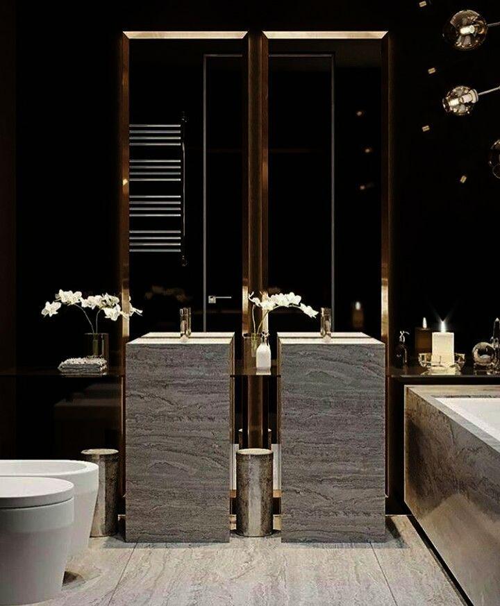 Hermosa Collection Luxury Hotel Shower Curtain Hooks Square Contemporary Design Silver Chrome 12 Pk Elegant Bathroom Luxury Master Bathrooms Bathroom Design