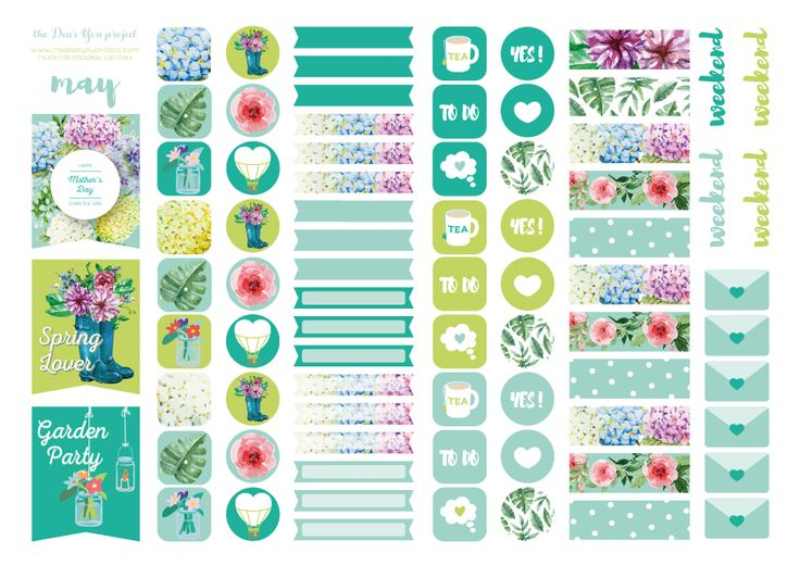 Free Printable Stickers - May – the Dear You Project