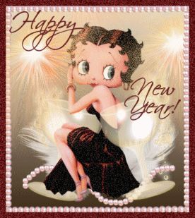 Betty Boop Free Animated Wallpaper screensavers   Betty Boop Pictures Archive: Betty Boop New Year's Eve animated gifs