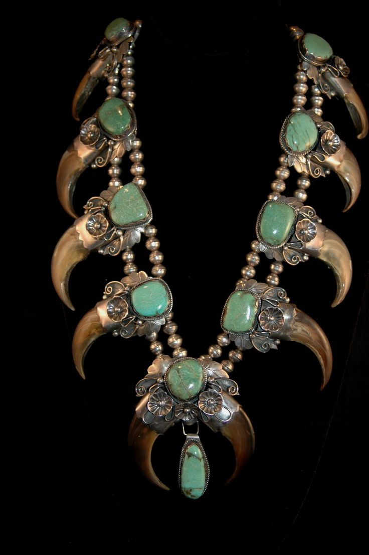 d2e1b56c8ab67c80f1279d29582371db  squash blossom necklace turquoise jewelry