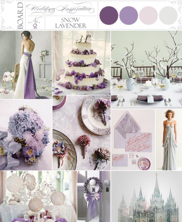 Lavender, Violet, Snow, Wedding Inspiration Boards