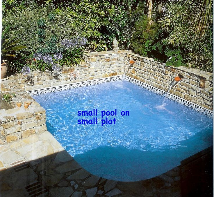 172 best images about backyard pool on pinterest - Swimming pools for small backyards ...