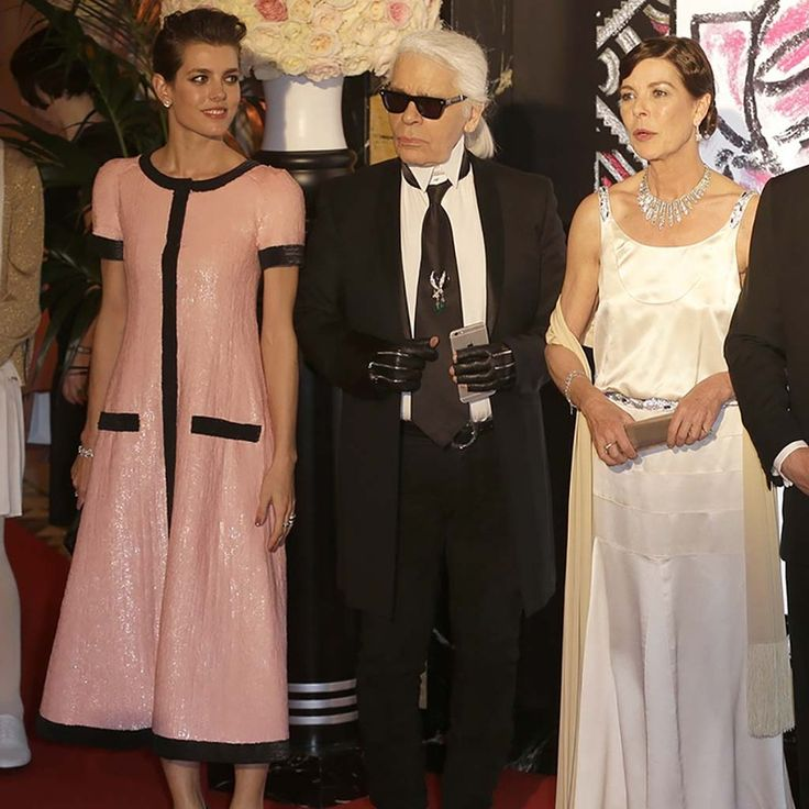 Carlota Casiraghi, Karl Lagerfeld y Carolina de Mónaco