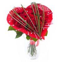Фото: Сердце из красных роз - Букет «Сердце из роз»