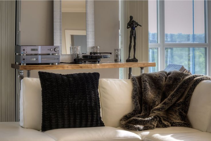Living space with views. Media console. Luxury condo.