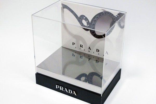 Espositore con base in PVC argento lucido a specchio