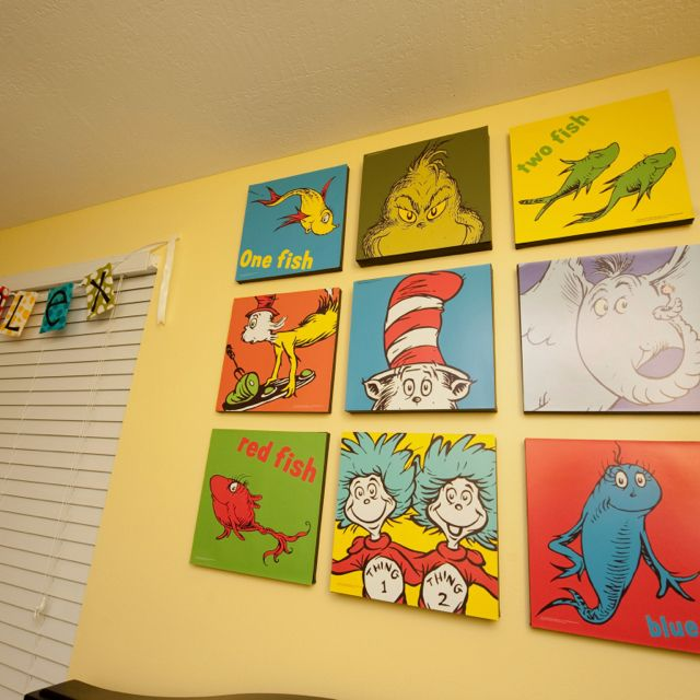 Alex's Dr. Seuss nursery. Photo by Hillary Ferguson Photography.