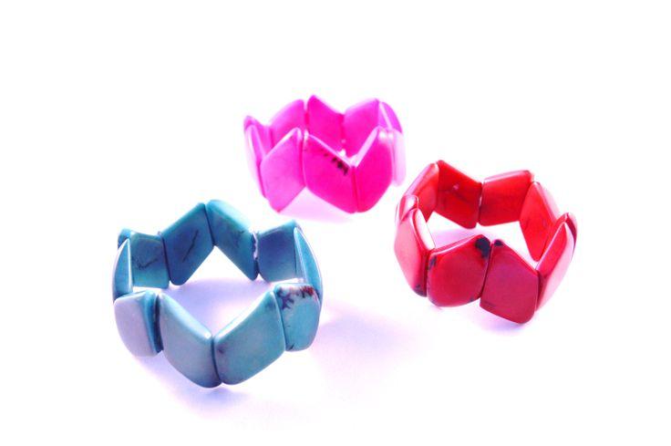 More angular design for a modern look! #geometricjewelry #handmade #colourful
