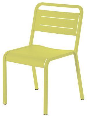 Chaise empilable Urban / Métal Vert - Emu