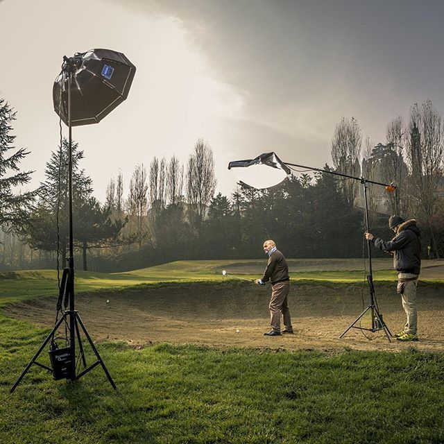 Beautiful BTS by @digitalmovie.it : From yesterday #photoshoot #bts #shot of our #lighting #setup getting the most out of a #foggy day at the #golf #course. #Digitalmovie #matteomescalchin #perfectlighting #chimeralighting #elinchrom #octa #beautydish #lantern #pancake #handcraftphotography #madeinitaly #skyport #action #behindthescenes #veneto #lightingdesign #cinematography #photography #creative #filmmaking #filmmaker #inspiration