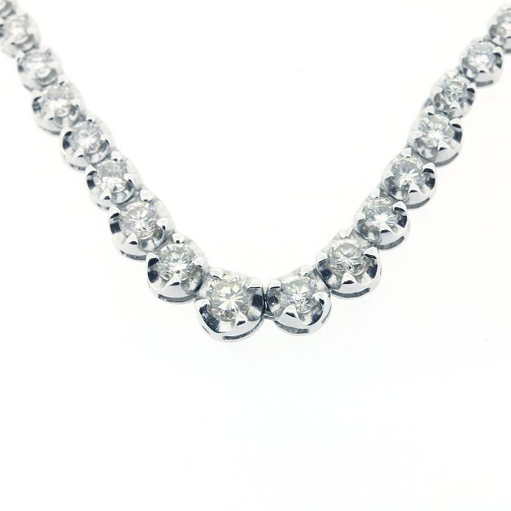 "Pt900 PLATINUM DIAMOND 5.00ct NECKLACE[Price]JPY268,000 *Approximately US $2,426.47[Condition]""EXCELLENT pre-owned condition"""