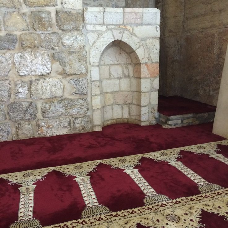 "The place where Prophet Mohammad صَل الله عليه وسلم led all the Prophets in salah during Miraj (in Al Aqsa) """
