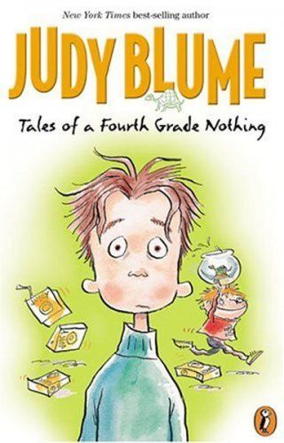 """Tales of a Fourth Grade Nothing by Judy Blume . . . The first of the """"Fudge"""" books, Tales of a Fourth Grade Nothing by Judy Blume largely deals with the relationship of a fourth-grader, Peter, and his younger brother, Fudge. Reading aloud gives plenty of opportunity for talking and provides discussion points for talking about relationships with siblings."""