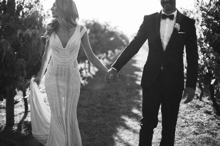 J'Aton Couture Gown / James & Nadia: Summer Fields & Endless Love / Real Wedding / Photographed by Kristen Cook / View full post on The LANE