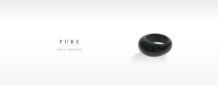 Pure Ring, helt i Jadeite! Finns i olika färger.
