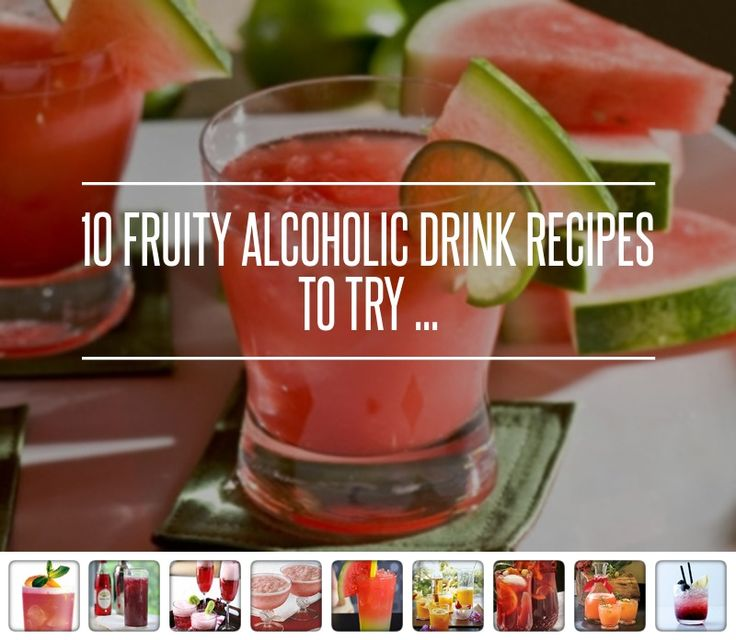 10. Strawberry Coconut Daiquiri - 10 Fruity Alcoholic Drink Recipes to Try ... → Food