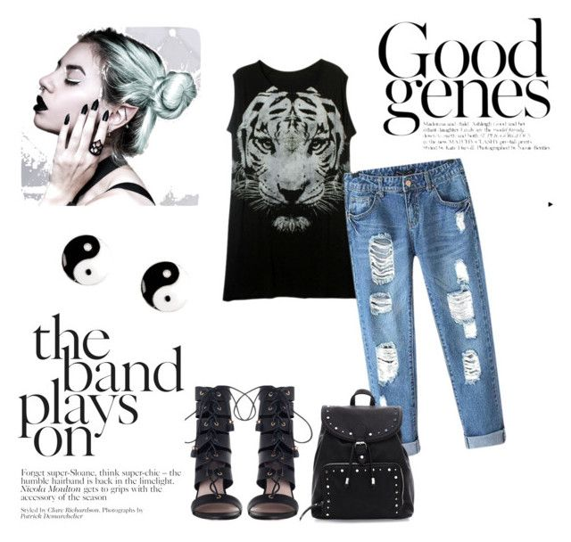 """Soft Grunge Outfit"" by noellawaswanie on Polyvore featuring Chicnova Fashion, Zimmermann and claire's"
