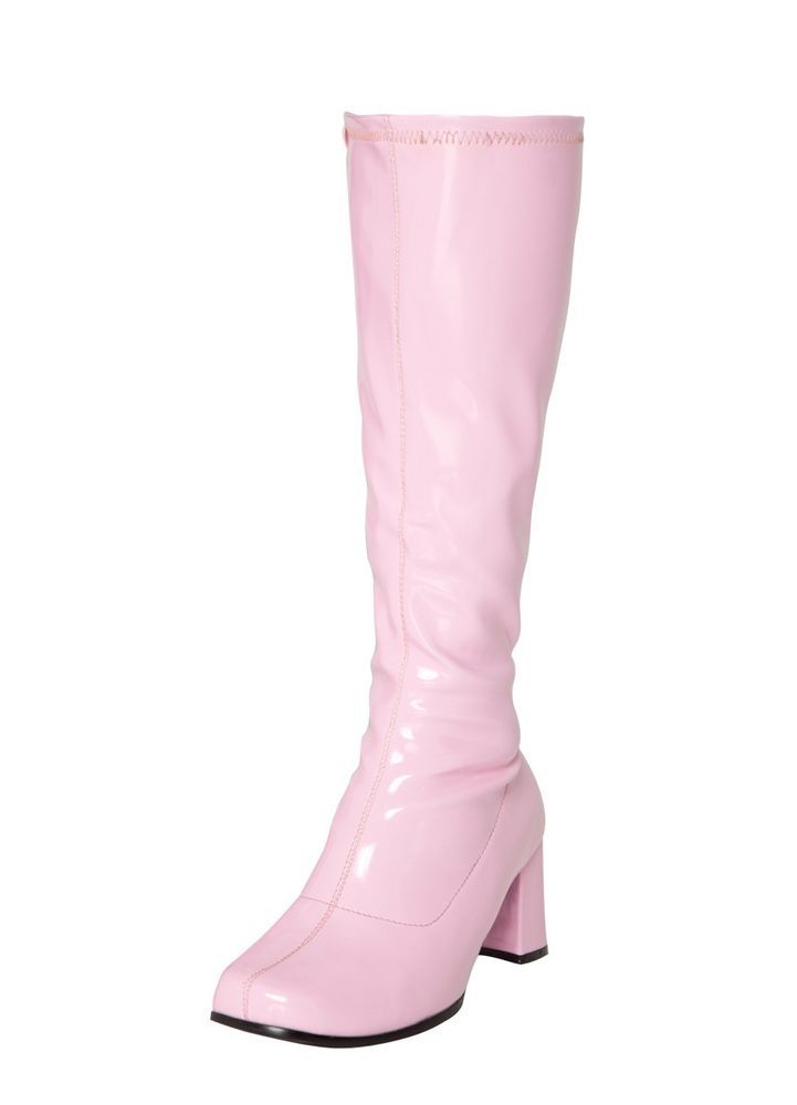 Pink Boots - Gogo Ladies Retro Boots For Women Knee High Boots - Size 6 UK