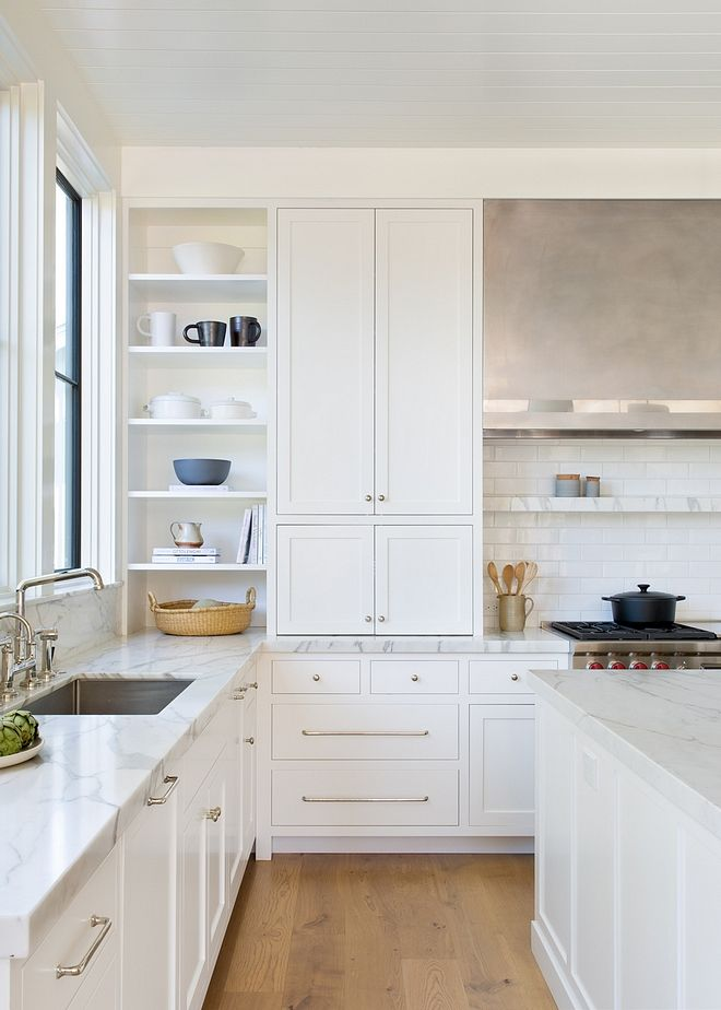 White Kitchen Kitchen Cabinetry The Cabinets Trim And Ceiling