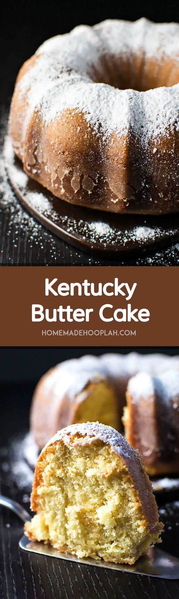 Kentucky Butter Cake! Extra moist and crumbly pound cake coated in a crispy sugar coating - fair warning, it's addictive! | HomemadeHooplah.com