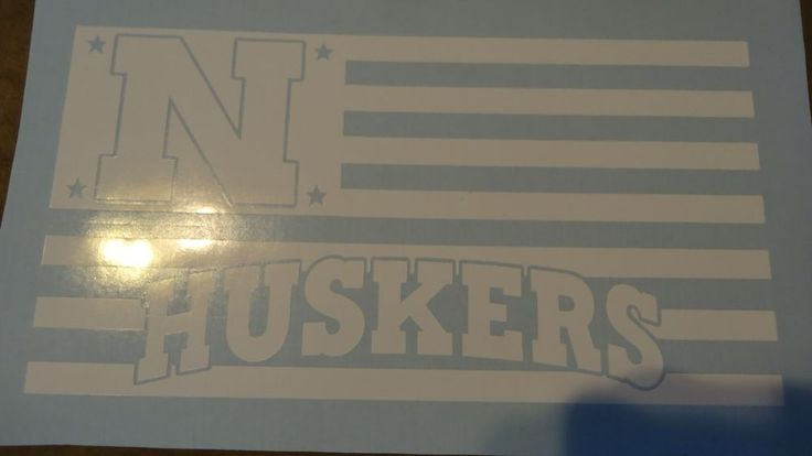 Nebraska Cornhuskers Flag car decal   #NebraskaCornhuskers