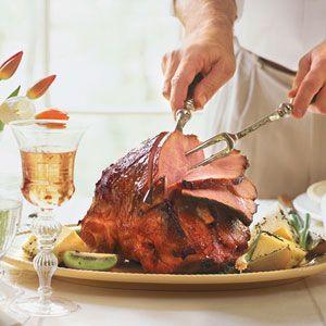 Sweet-Hot Plum-Glazed Ham | MyRecipes.com