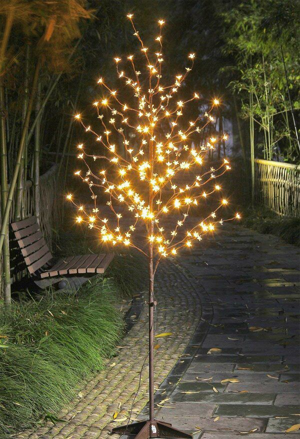 Cherry Blossom 208 Light Lighted Trees Branches Cherry Blossom Light Tree Diy Outdoor Lighting Blossom Trees