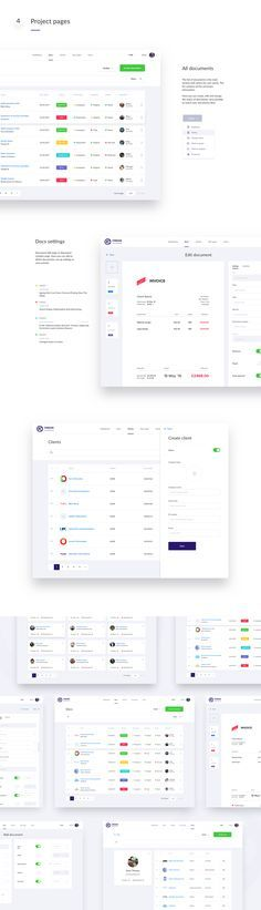 Boards in an simple design solution of the accounting documents system. The main task was to create a simple, functional and user-friendly interface.