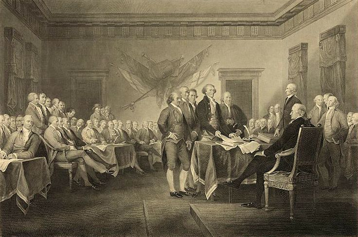 July 4, 1776 America declares its independence from Britain.