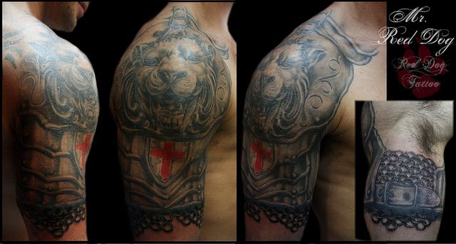 Lion armor new session by Red Dog Tattoo, via Flickr