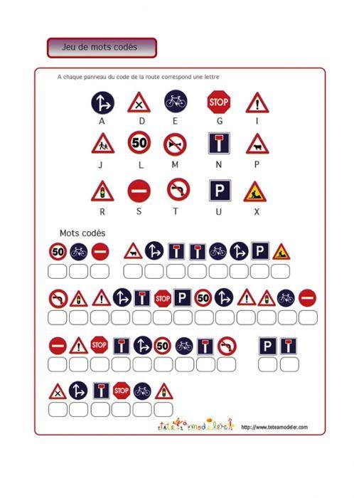 Jeu de mots codés : sécurité routière  4
