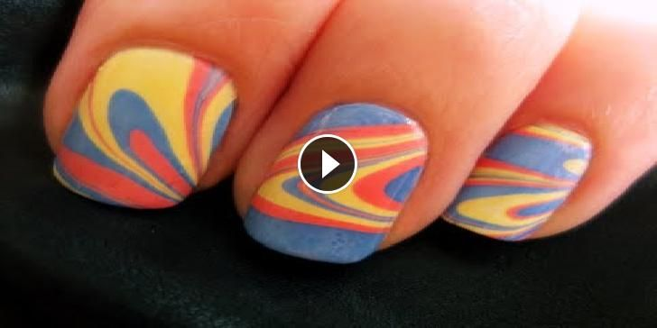 Nail Art-Stile Marble