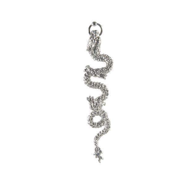 Dragon Single Earring / Silver