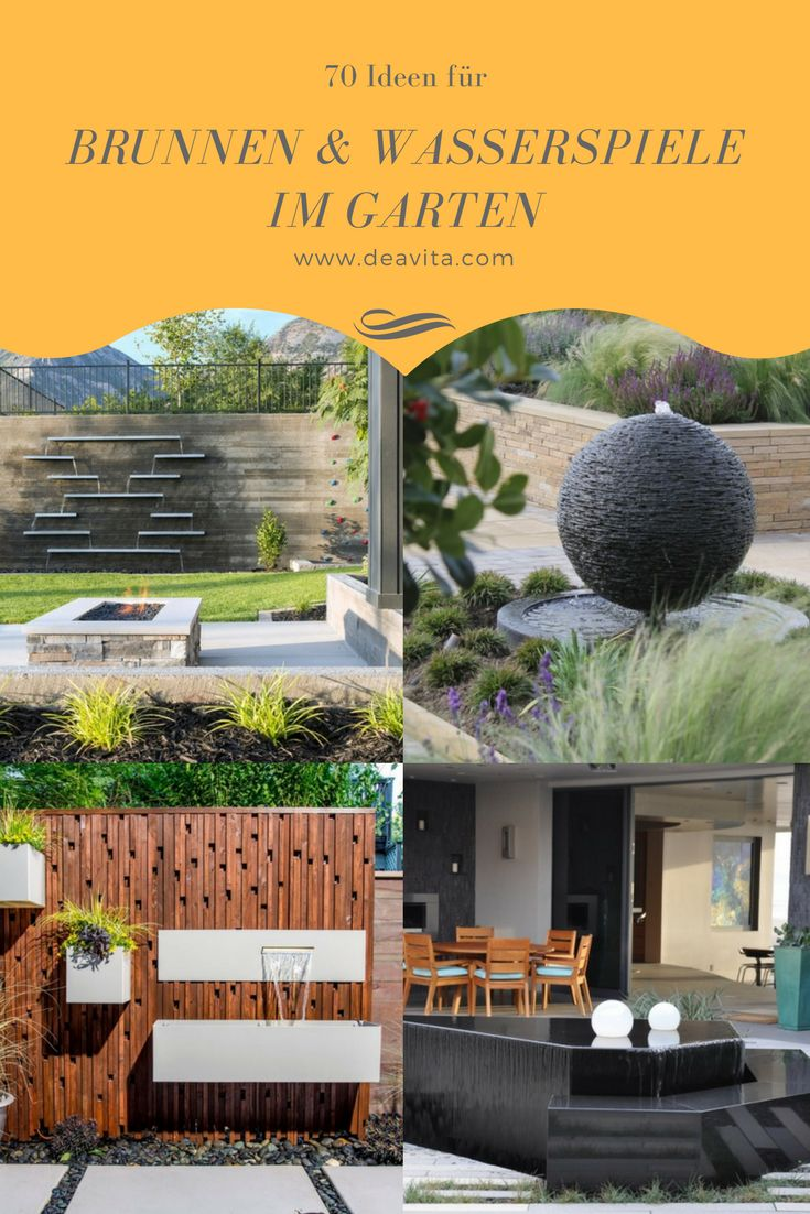25+ Best Ideas About Wasserspiele Im Garten On Pinterest | Wasser ... Whirlpool Im Garten Charme Badetonne
