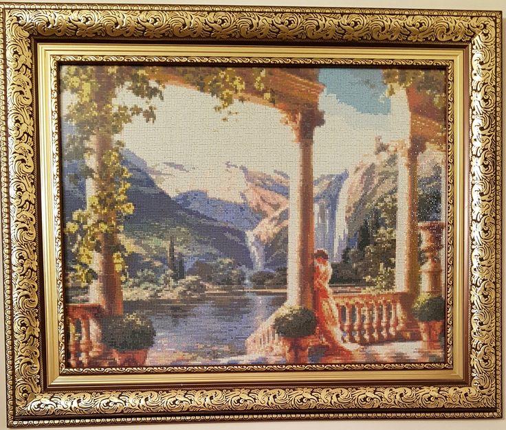 Conacul lacrimilor - Broderie mosaique - 63x49 cm fara rama ( +Rama, sticla antireflex ) 1743.50 Euro  Pret: 8.020,10 RON