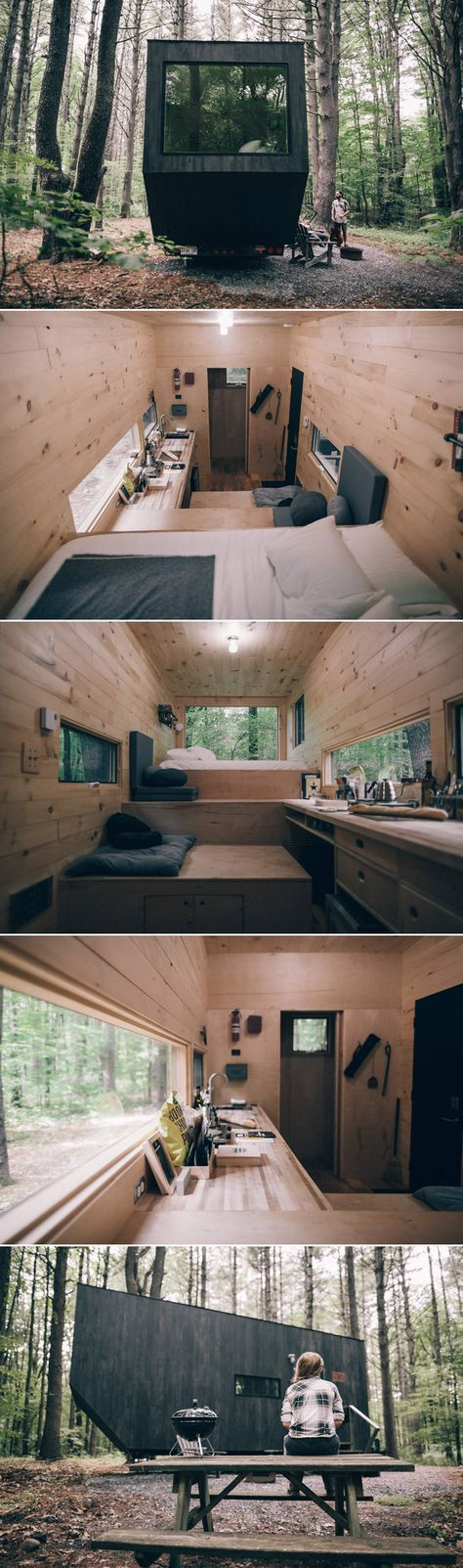 A Tiny House Located In The Woods Of Upstate New York. Available For  Nightly Rental