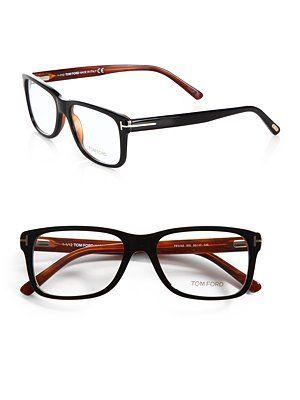 Wide Square asics gel Optical    Ford    kayano mens Eyewear size Tom Frames Black Havana  amp