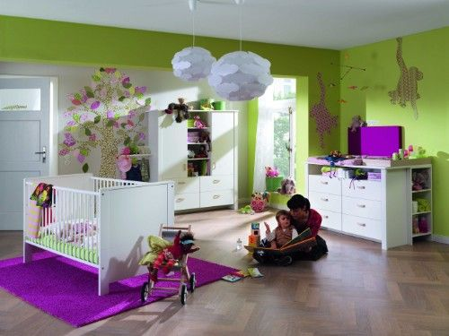 Fancy Komplett Kinderzimmer MIA tlg Kinderbett Wickelkommode und t riger