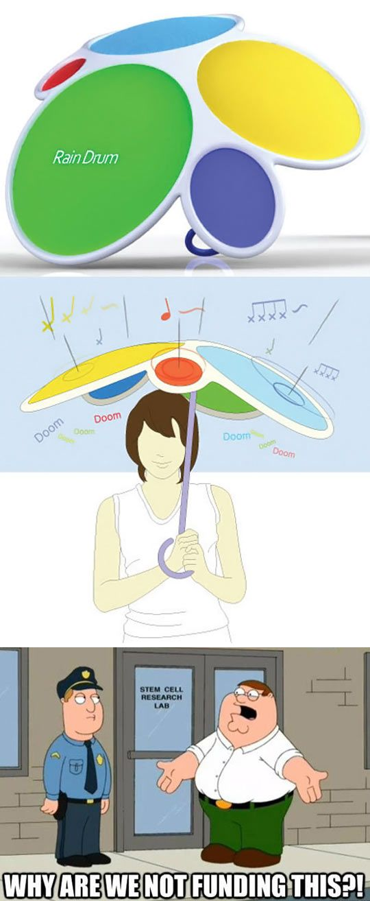 The Rain Drum - would definitely lighten the mood on a rainy day.