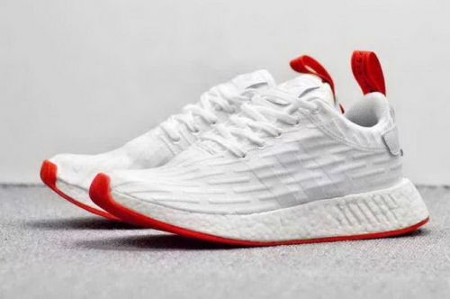 the best attitude 210a3 f3889 High Quality Men Adidas NMD R2 Pk White Red For Sale ...