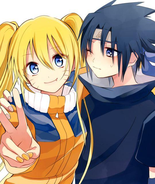 Sasuke uchiha and naruto uzumaki family something