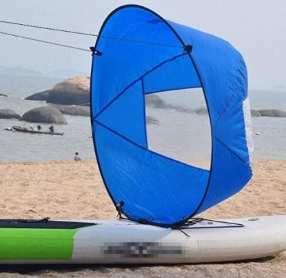 """Durable 42"""" Kayak Boat Wind Sail with clear window"""