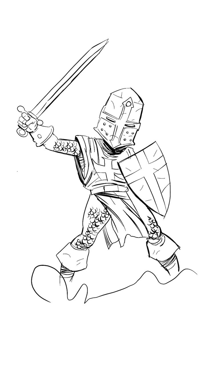 Knight In A Pose