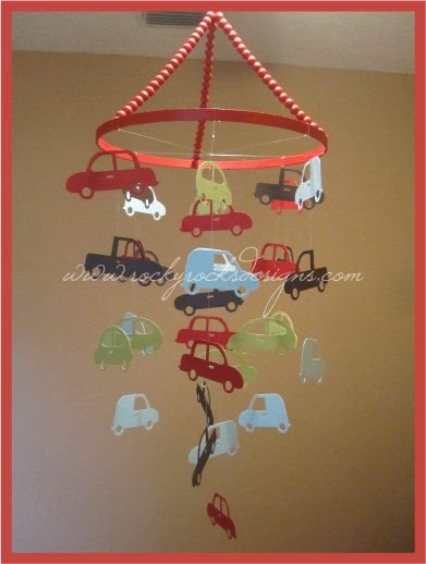 Cars Nursery Mobile by RockyRocksDesigns on Etsy, $50.00