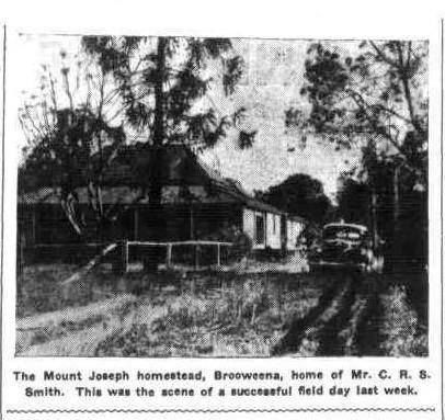 Mount Joseph Homestead, Brooweena home of Mr C R S Smith. Queensland Country Life 8 November 1945 (Trove)