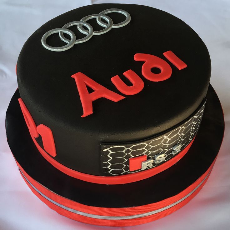 Audi birthday cake