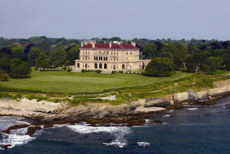 Aerial Photo of the Breakers Mansion, Newport RI. Photo courtesy of Tom Roskelly.