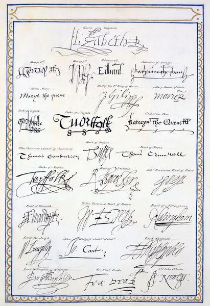 194 besten tudor letters and documents bilder auf for Tudor signatures